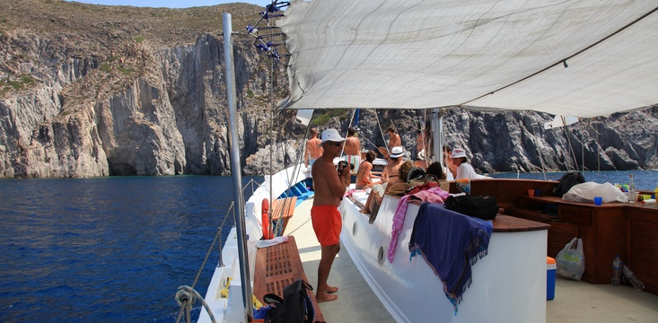 On-board kaïki Agios Georgios